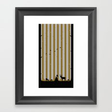 Gold Deer Song Framed Art Print
