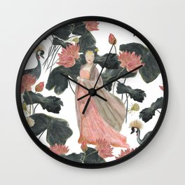 Asian woman Wall Clock