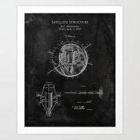 1957 Satellite Design Patent  Art Print