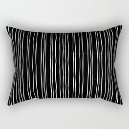Wide Black Stripe Rectangular Pillow