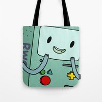 bmo Tote Bags featuring BMO by Kyrsten Carlson