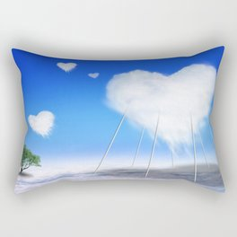 When I feel love, I' d be above the clouds Rectangular Pillow