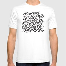 Scribble SMALL White Mens Fitted Tee