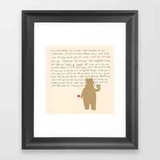 Writing Framed Art Print