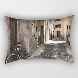 bicycle at the house door - ready to go Rectangular Pillow