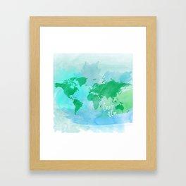 travel often.  Framed Art Print