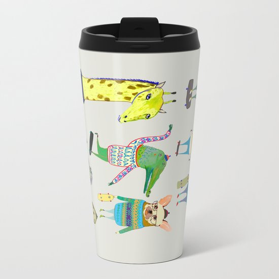 skateboarders, skaters, skateboard, Metal Travel Mug
