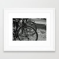 bikes Framed Art Prints featuring Bikes  by Renatta Maniski-Luke