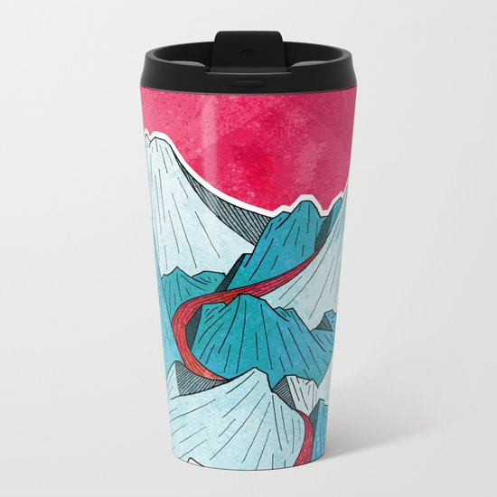 Red River In The Mountains Metal Travel Mug