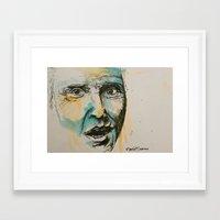 christopher walken Framed Art Prints featuring Christopher Walken  by Maria Berlin