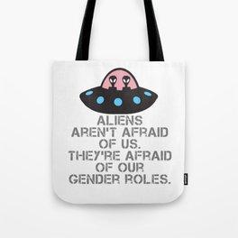 Alien Fear Tote Bag