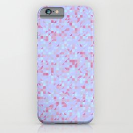 Geometric pattern with colorful triangles and squares iPhone Case