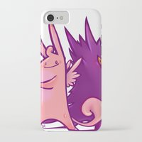 gengar iPhone & iPod Cases featuring Clefable and Gengar by Ida Dobnik
