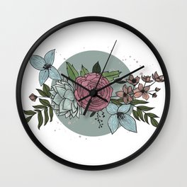 flowers in the winter Wall Clock