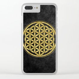 Flower Of Life 007 Clear iPhone Case
