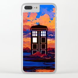 TARDIS at PAINTING Clear iPhone Case