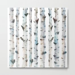 Birch Tree collab. with @rodrigomffonseca Metal Print
