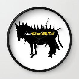 Punk Donkey Unicorn Wall Clock