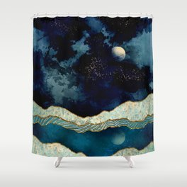 Indigo Sky Shower Curtain