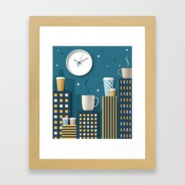 Coffee Night Framed Art Print