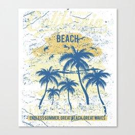 Los Angeles California Beach Canvas Print