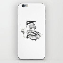 Duck War (Black and White) iPhone Skin