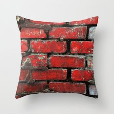 Brick Wall 2 Throw Pillow