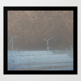 Apocalypse Wind Farm Art Print