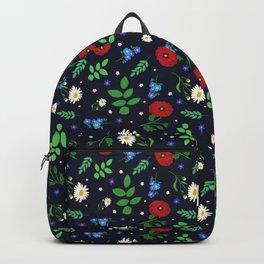 Swedish Folk Flowers Backpack