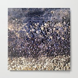 Old blue asphalt Metal Print