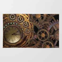 Steampunk gears background Rug