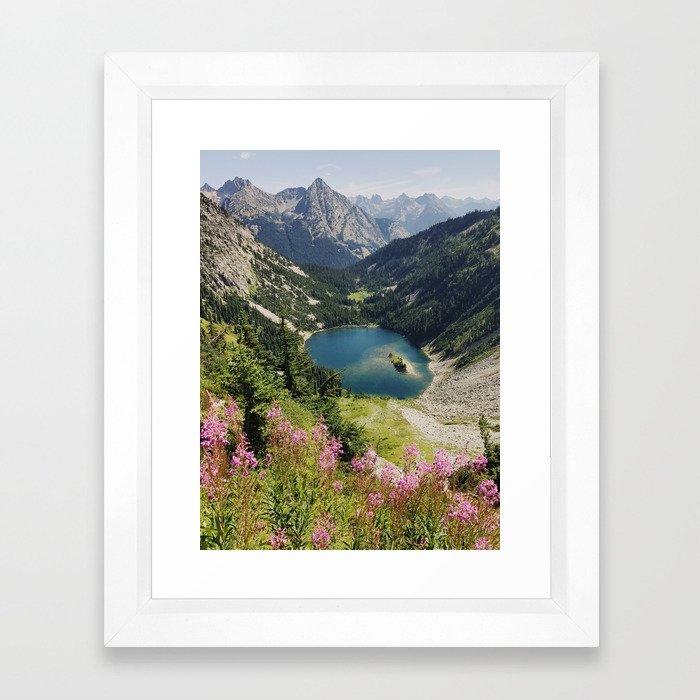 Cascade Summer Wildflowers Framed Art Print