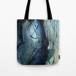 Labradorite Crystal Watercolor Tote Bag