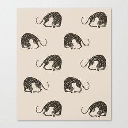 Blockprint Cheetah Canvas Print