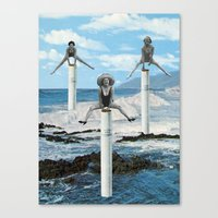 cigarettes Canvas Prints featuring cigarettes by •ntpl•