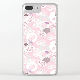 Pretty Poppies Seamless Repeating Pattern Clear iPhone Case