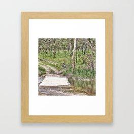 Rustic water crossing Framed Art Print