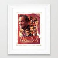 quentin tarantino Framed Art Prints featuring Tarantino by turksworks
