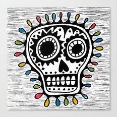 Sugar Skull - sharpie Canvas Print