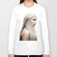 daenerys Long Sleeve T-shirts featuring Khaleesi (Blue Sky) by Jason Cumbers