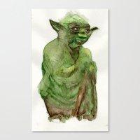 yoda Canvas Prints featuring Yoda by Catherine Johnson