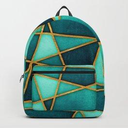 Aquamarine Watercolor Skewed Color Blocks Backpack