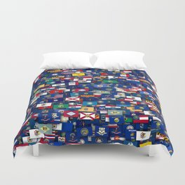 Flags of all US states Duvet Cover