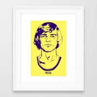lakers Framed Art Prints featuring Pete Maravich by Aaron Dana