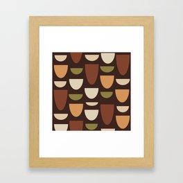 Brown & Orange Bowls Framed Art Print