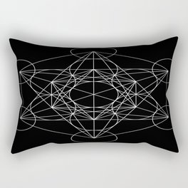 Sacred Geometry : Metatron's Cube / The Map of Creation Rectangular Pillow