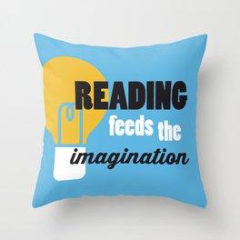 Imagination - Just Read Throw Pillow