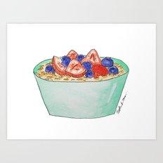 O is for Oatmeal Art Print