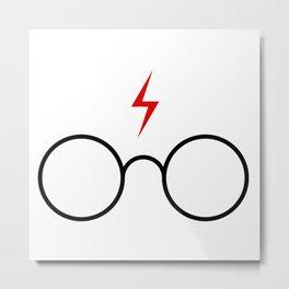 harry.potter glasses Metal Print