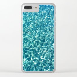 Clear water blue Clear iPhone Case